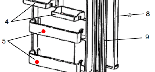 MITSUBISHI FRIDGE BOTTLE SHELF ONLY FOR MR-260G, MR260G,  , *W02124