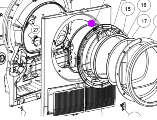 fisher paykel Dryer DOOR SEAL GASKET DE4060M1, DE4060M1,