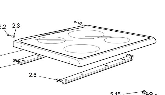 Delonghi Oven top ceramic Glass Ds61e, NO Longer Available