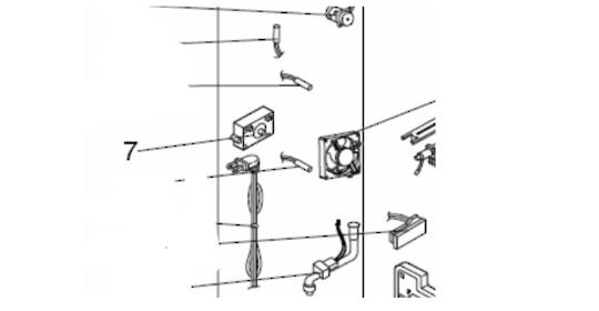 Mitsubishi Fridge  Ice Maker Gear Box Assy GEAR BOX IM MRCU375P,