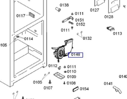 Bosch freezer side Fan Motor KGN53XI25A/02 , FAN COMPLETE AU KGN BG20 (AC/DC),