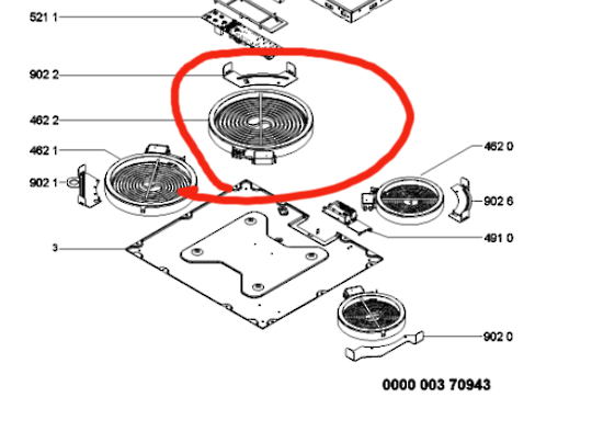 Whirlpool cooktop Element 2100 watt 210mm AKT809BA,