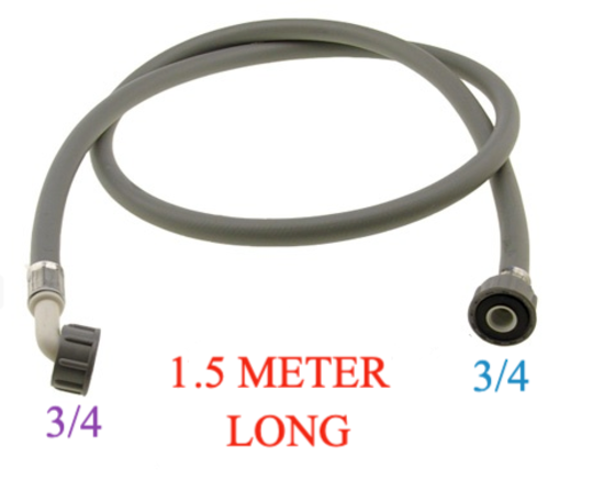 Washing Machine And Dishwasher Inlet Hose 1.5 Meter Long cold only, with washer , COLD ONLY