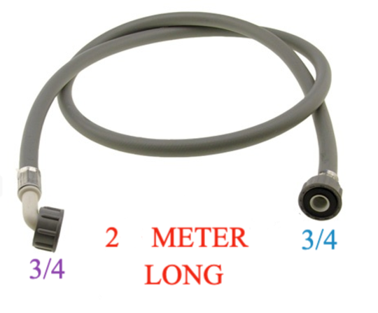 Washing Machine And Dishwasher Inlet Hose 2 Meter Long cold only, with washer , COLD ONLY