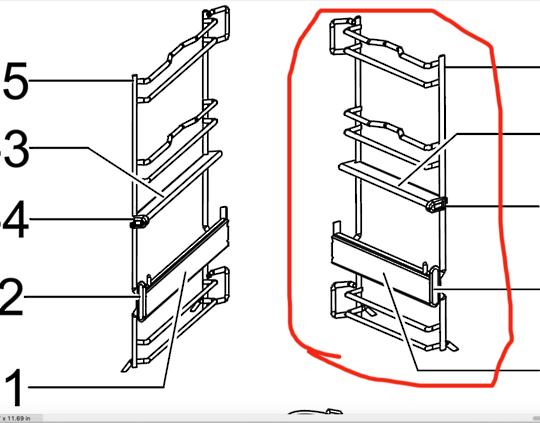 Samsung oven Right Side rack assy including  Telescopic Rail BQ1Q4T102,