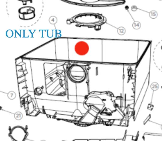 FISHER PAYKEL DISHDRAW Tub Assy Upper or lower or single draw DD609, DD608, DD60DCX9,**12611p