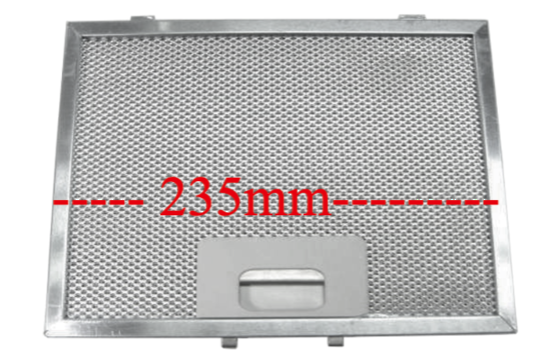 Omega Ranghood Filter p580  235mm x 170mm ,