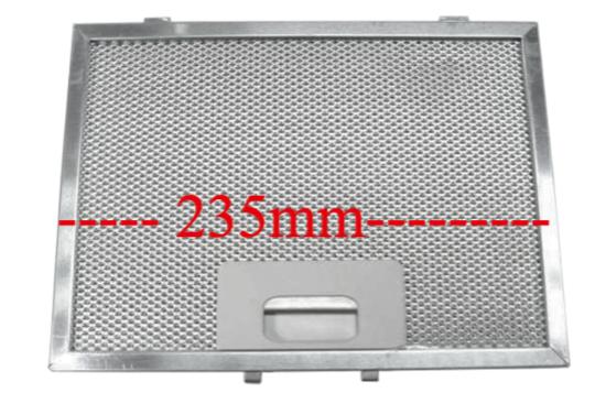 SMEG Rangehood Filter  for some p580, P580.1, P580.2, P580.3, P580.4, 235mm x 170mm
