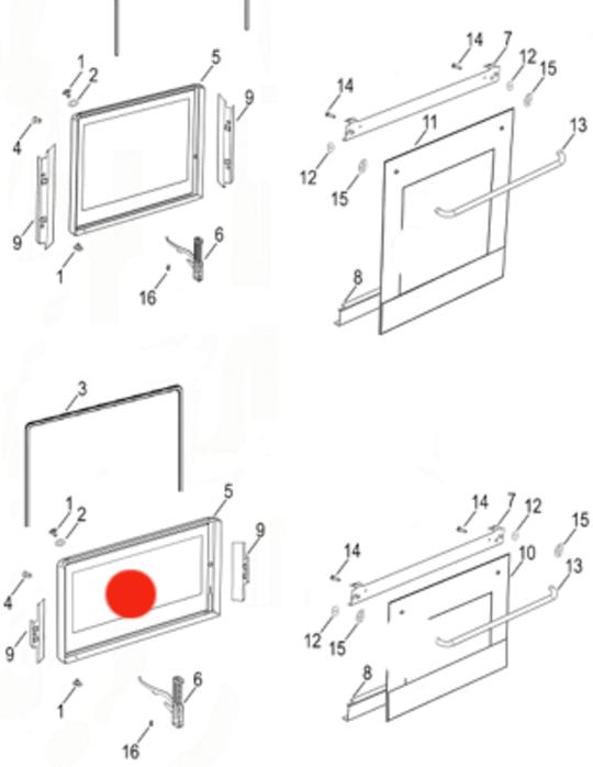 Fisher Paykel SMALL INNER Door Glass BI602c, B1602r, 80061, 80063, 80136-c, 80138-c,