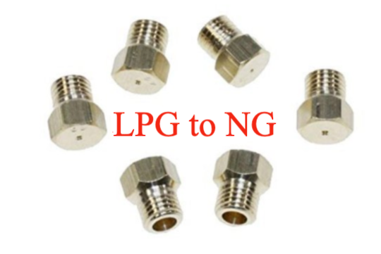 Nozzle gas Jet for Lpg TO NG Oven Cooktop set for 4-6 burner,