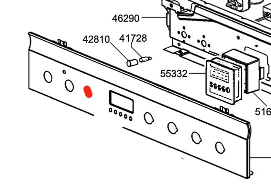 Smeg OVEN CONTROL PANEL SNZ61MFX1,