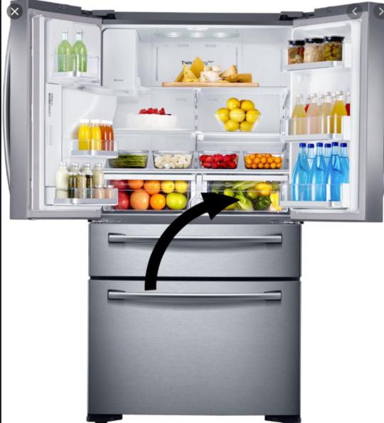 samsung fridge Veggie Bin Right Side SRF679SWLS,