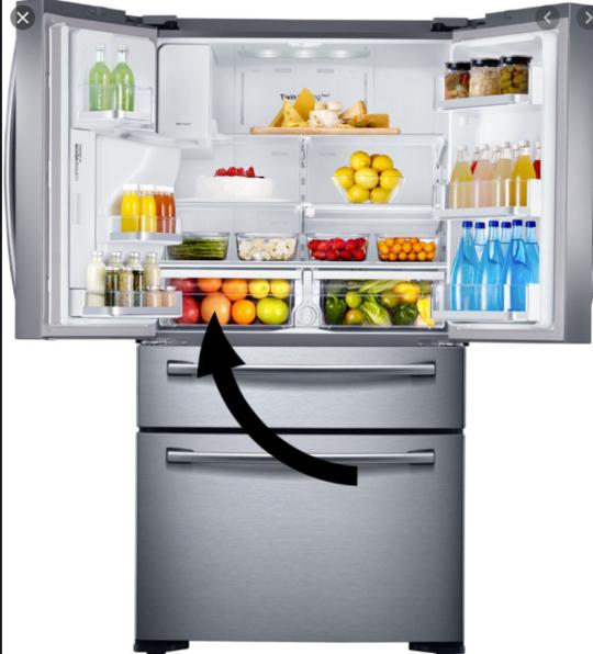 samsung fridge Veggie Bin Left side Side SRF679SWLS,