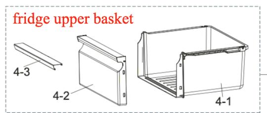 Samsung Fridge upper Drawer SRS583NLS,