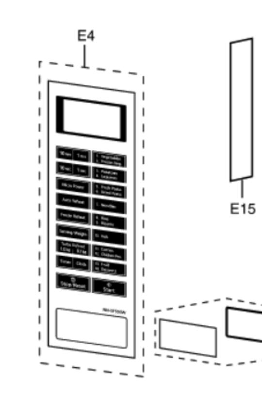 Panasonic Microwave SWITCH MEMBRANE NN-SF550W, NN-SF550,