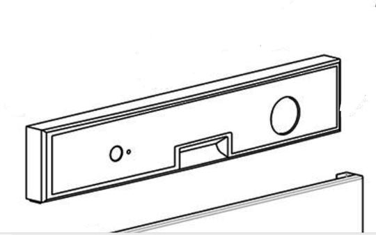 Haier dishwasher control panel HDW100WCT, 61500. White *2418,
