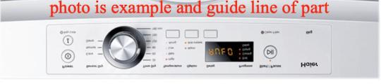 Fisher Paykel Haier Dryer Decal Inverter HDV-60E1, HDV60E1 upsides down sticker,