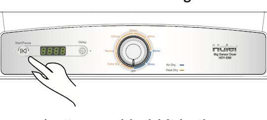 Fisher Paykel Haier Dryer Decal Inverter HDY-E60 upsides down sticker,