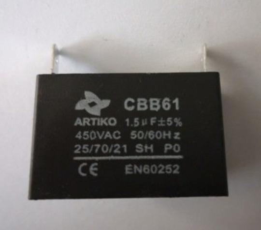 Universal Capacitor 4uf, 4 uf 450vac, cbb61, small plug