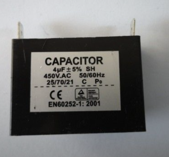Universal Capacitor 4uf 4 uf 450vac, cbb61, large spade terminal