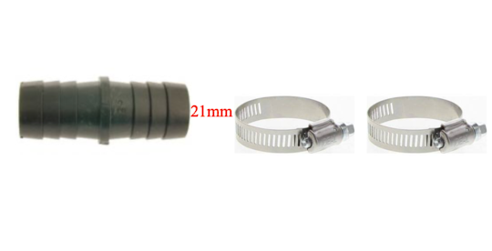 Washing Machine And  Dishwasher Outlet Drain Hose Extension fitting adaptor 21mm,