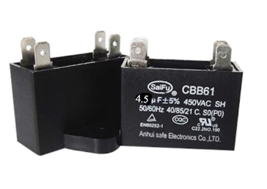 Universal Capacitor Assy 4Uf, 4.5 uf, CBB61,
