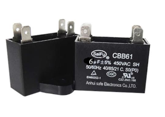 Universal Capacitor Assy 6Uf, 6 uf, CBB61,