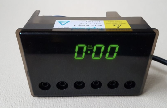 Parmco Oven Clock Timer 6 Botton  8 function OV series 2 relay version 2 for AR900 AR600 , *0018