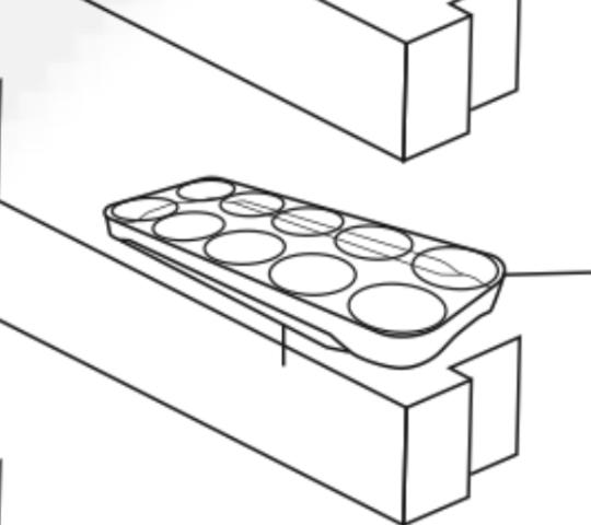 Panasonic Fridge Egg tray  NR-CY54BG NR-CY558G,