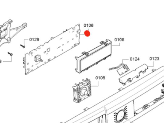 Bosch Washing Machine PCB Moudle Display WAW28460AU/01,
