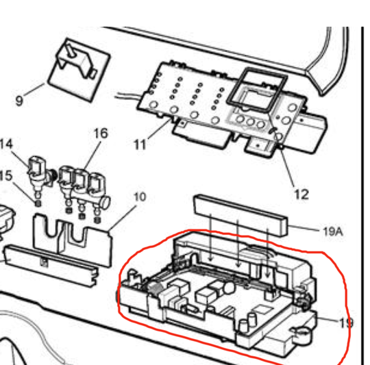 Westinghouse Washing Machine Main PCB circuit Board power controller board WWT1020A PNC 91304117304,