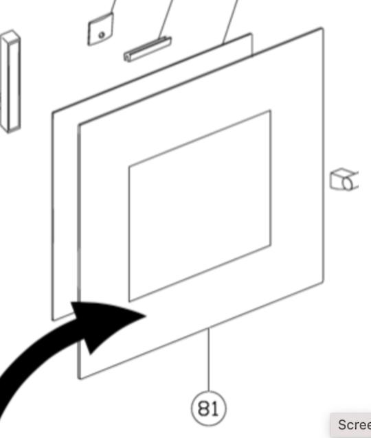 Blanco Oven Door Outer glass BOSE69X, E60SM,