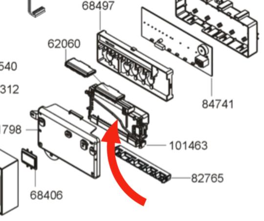 Blanco DISHWASHER POWER CONTROLLER BOARD PCB TIMER BDW4610X, TIMER 071FW56MD372PAR037, *118