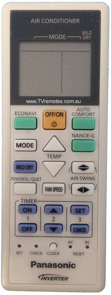 Panasonic Air condition and Heat Pump Remote Controller CS-E12PKR, CS-E15PKR, CS-E18PKR, *c4406