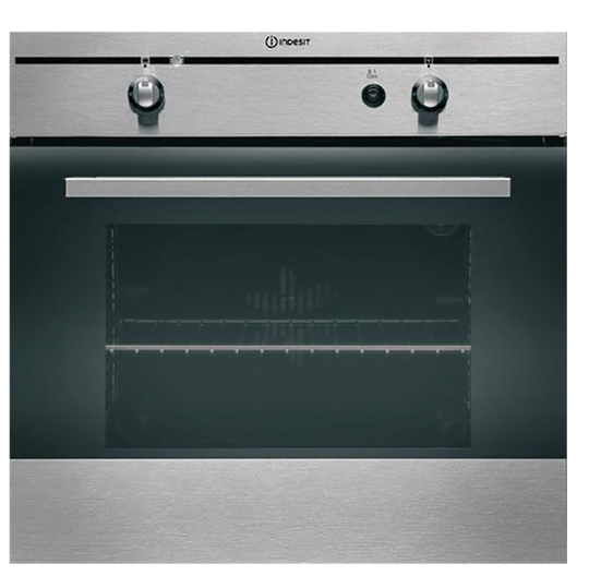 Indesit Gas/Electric Built In Oven FGIM K  Stainless Steel