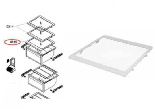 Bosch Fridge side Veggie Bin Glass top or 3rd shelf from top KAN56V10AU, KAN58A40au, KAN58A70au, KAN58A50au,