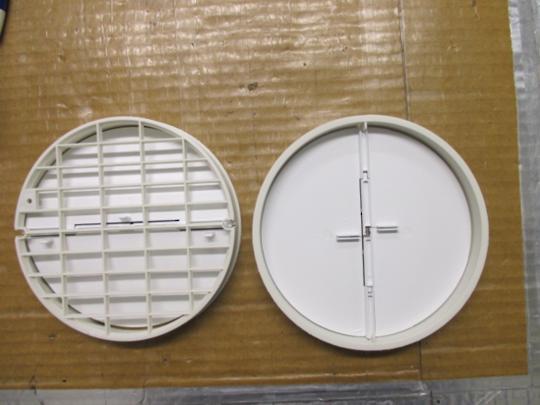 RANGEHOOD OUTLET TUBE REDUCER ADAPTOR Outlet Non Return Flap PASc780.4,