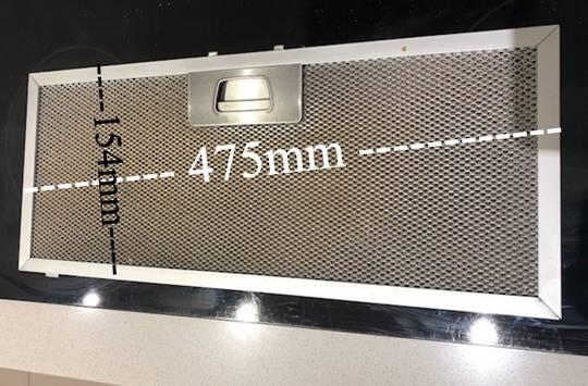 Robinhood Rangehood Aluminium Filter for 70cm wide Powerpack Rangehood RPA3CI9SS, RPA3CI9WH, RPB3CL9SS/WH