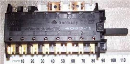 Baumatic Oven selector switch multifunction switch BK157, BK187, BK156, BK155, BK185, BK200, 4083/1