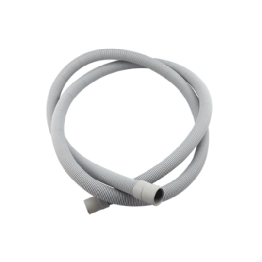 WESTINGHOUSE DISHWASHER HOSE DRAIN 2M STRAIGHT CUFFS 24MM AND 20MM INTERNAL,