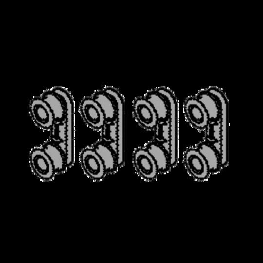 SIMPSON WESTINGHOUSE AEG Electrolux Dishwasher Rollers Rail Support DSF6305X, WSF6602WR, WSF6602XR, F99015IM0P/AU, ESF6700ROX, F