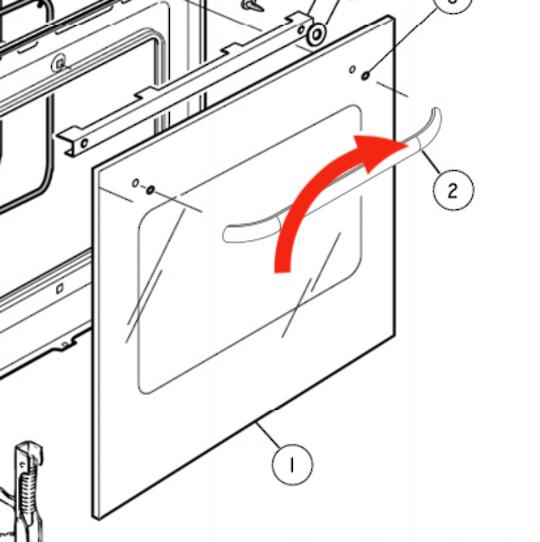 Elba Delonghi Oven Door Handle OR60SCGX,  *4624