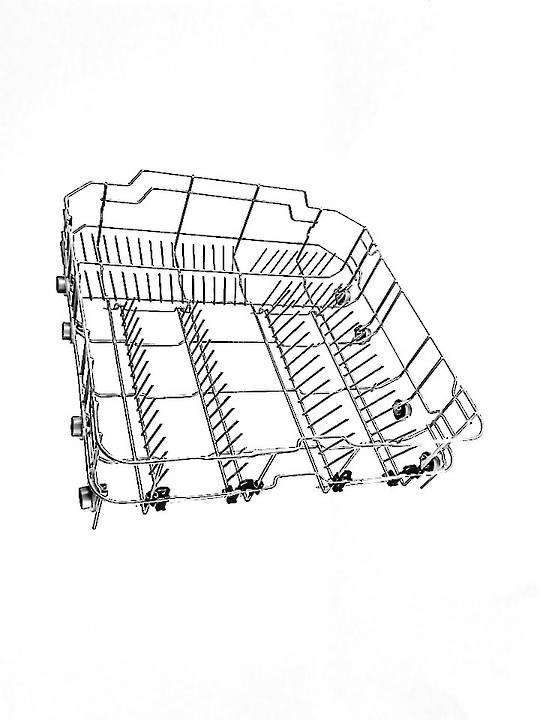 Classique and Baumatic Dishwasher LOWER BASKET BDW65SS, CLD60CTSS WITH WHEELS,