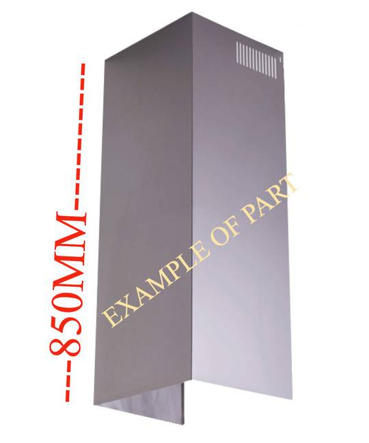 Fisher Paykel Rangehood Chimney extension  HC90PLX4, 500007, HC90DCXB3, HC60DCXB3, HC90DCXB1, HC90PLX4, HC60PLX4,