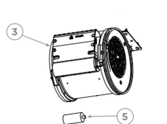 Fisher Paykel Rangehood Motor Assy hp60icsx3, hp601csx3, 50133 A , *2742