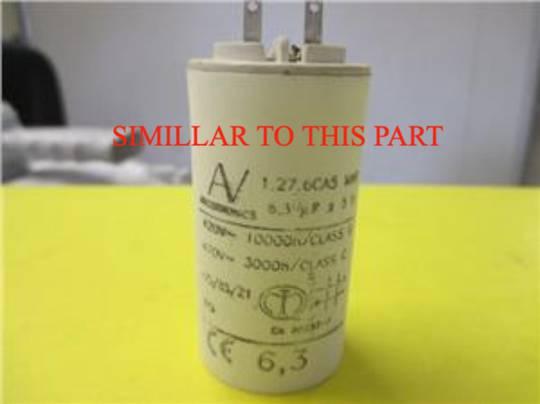 Smeg  Capacitor 6.3uf CAPACITOR 6,3MF 400V 10000 HOURS,
