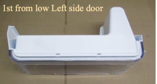 samsung fridge door Bottle shelf  LEFT SIDE LOWest SRF653CDLS, RF23HCEDBSR/SA,