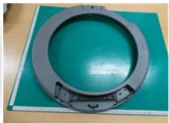 Samsung Washing Machine inner door frame  Front Loader WW11K8412OWSA, WW11K84120WSA, *137A