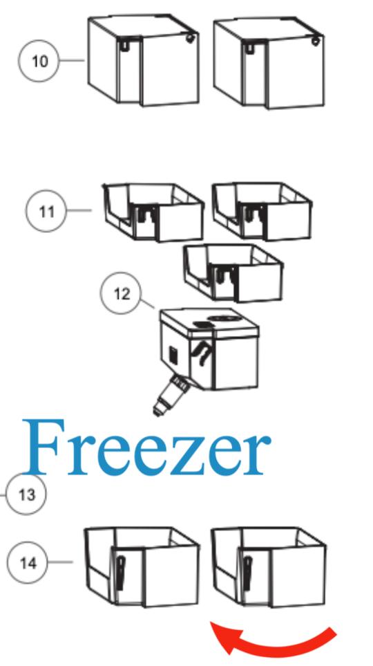 Haier Freezer door shelf HRF520FHS,