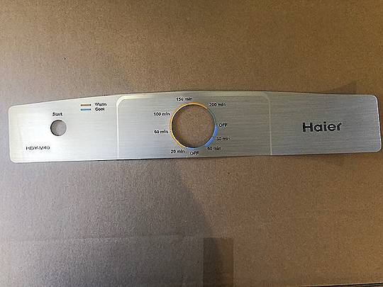 Fisher Paykel Haier Inverted Dryer Decal HDYM40, HDY-M40,